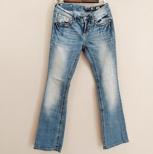 Miss Me Light Wash Bootcut Jeans Size 28